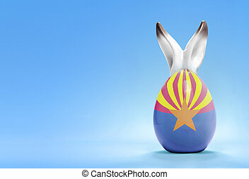 Colorful cute easter egg and the flag of Arizona .(series) -...