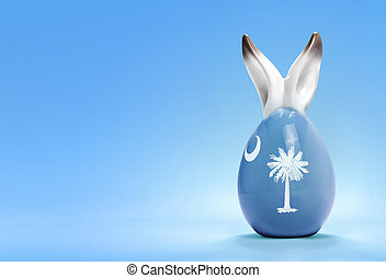 Colorful cute easter egg and the flag of South Carolina .(series)