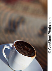 Turkish Coffee - Real turkish coffee in a small white...