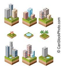 Print neighborhood - A set of isometric urban neighborhoods...