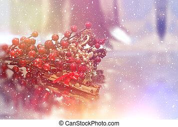 Retro styled Christmas background - Retro styled Christmas...