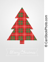 Christmas tree with scotland pattern vector