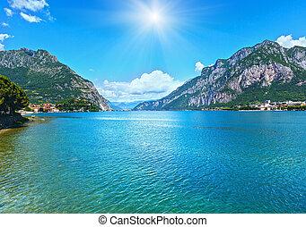 Lake Como (Italy) summer view. - Lake Como (Italy) summer...