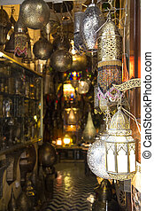 Lamp at medina in Fes, Morocco