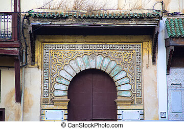 Architectual detail from Fes, Morocco