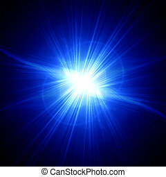electricity - electrical flash on a dark blue background