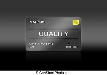 high quality platinum card on black background