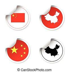 set of stickers - china