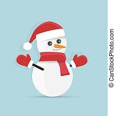 sneeuwpop,  Vector, Kerstmis