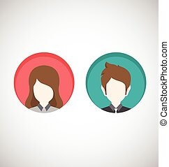 Male and Female icons.