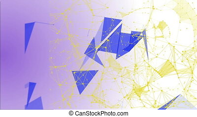 Abstract Structural Fragments 7 - Abstract background with...