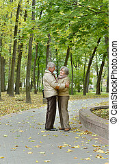 Senior couple resting - Portrait of a senior couple resting...