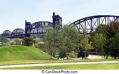 Bill Clinton Bridge. - Bill Clinton truss bridge in Little...