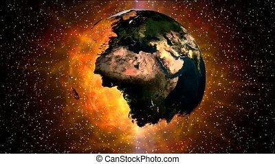 earth in universe and super nova