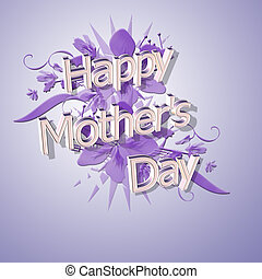 mothers day - happy mothers day in 3d