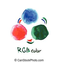 RGB color,watercolor, hand drawing