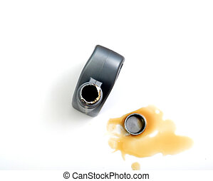 motor oil on a white background