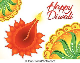 abstract artistic happy diwali backgroundeps - artistic...