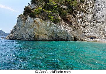 boat on rocky beach - Boat on rocky beach Summertime in...