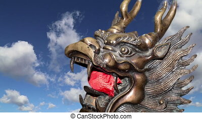 Guardian Lion Statue -- Beijing - Bronze Guardian Lion...