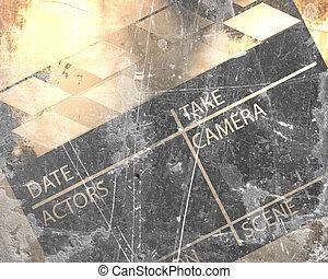 Old clapboard - Old grunge clapboard on a vintage background