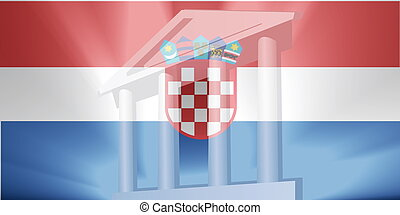 Flag of government - Flag of Croatia, national country...