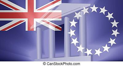 drapeau, o, fCook, îles, gouvernement