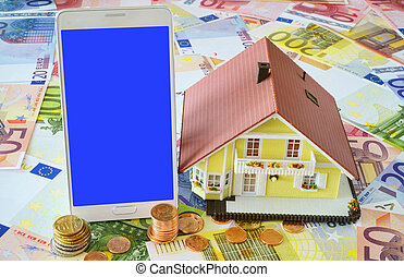 Smart phone and Home Ownership - Smart phone with blank...