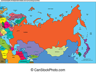 Comonwealth of Independent States, Russia and Countries, Names