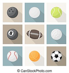 ector sport balls icons - Vector sport balls icon, sign,...