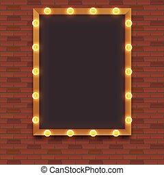 Light bulb frame