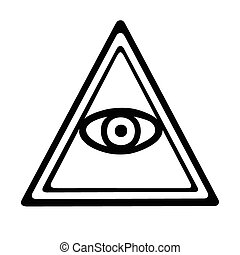 Eye of Providence - This is an illustration of an eye of...