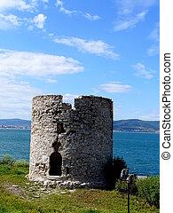 Nessebar - Ruin of rotunda in Nessebar