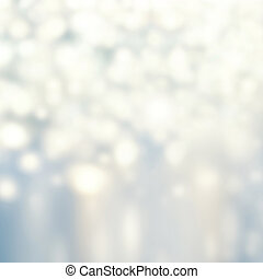 Abstract Glitter festive christmas lights background - white...