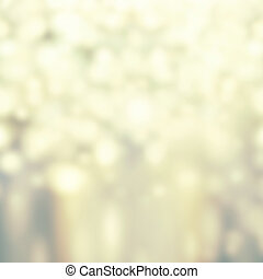 Abstract Glitter festive christmas lights background -white and gold  de focused texture