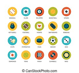 Round icons thin flat design, modern line stroke style, web...