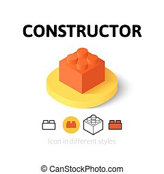 Constructor icon in different style - Constructor icon,...