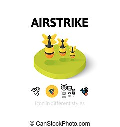 Airstrike icon in different style - Airstrike icon, vector...