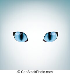 blue cat eyes - The blue cat eyes on a light mesh background