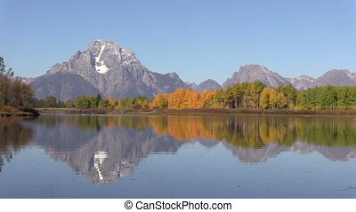Autumn Reflection at Oxbow Bend - an autumn reflection of...