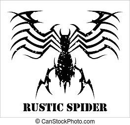 Spider virus Black Widow - Stylized Black Spider Virus...