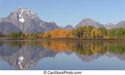 Autumn at Oxbow Bend Zoom In - zoom in of an autumn...