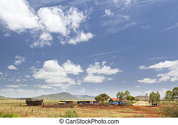 Central Kenyan Farm Landscape on the main road between...