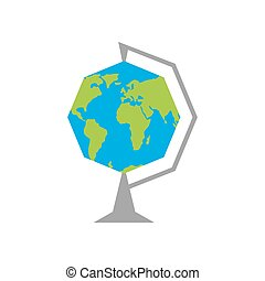 Octagonal Earth - School globe. Education in fantastic...