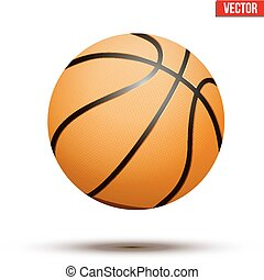 Basketball ball on white bckground - Basketball ball...