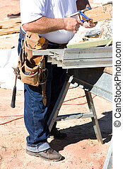 Construction Worker With Tools - Construction worker with...