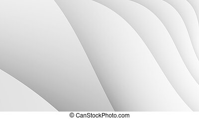Simple white waves fractal background - Digitally created...