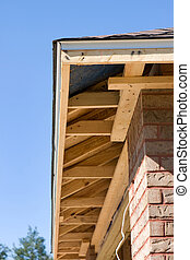 Home Soffit Framing - Soffit framing for a new home being...