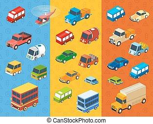 isometric flat cars