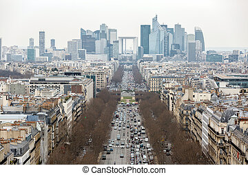 Paris cityscape France